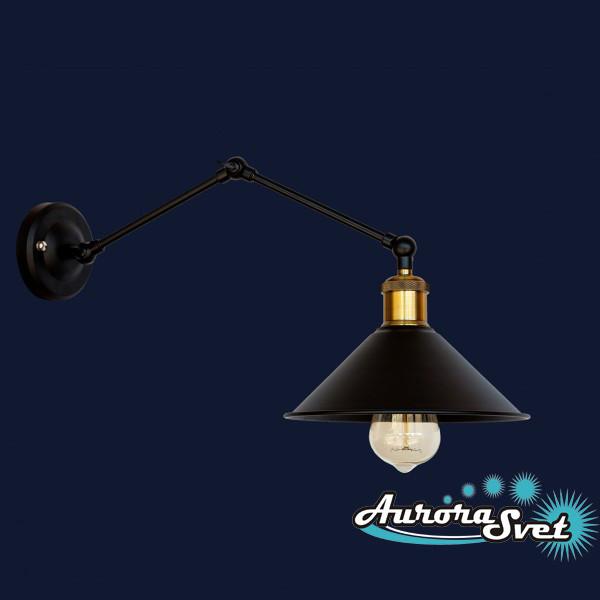 Бра настенная AuroraSvet loft 8400 чёрная. LED светильник бра. Светодиодный светильник бра.