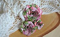 """Набор Бумажные цветы """"Нежное прикосновение"""" 004, 3 шт"""