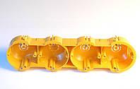 Установочные коробки под гипсокартон модульные четверние (мультибоксы) для розеток и выключателей.