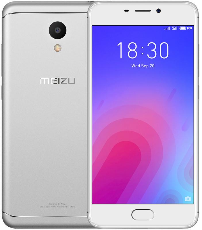 Сенсорный мобильный телефон Meizu M6 3/32 Silver