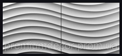 Гипсовые 3Д/3D панели БРИЗ, фото 2