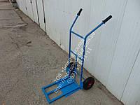 Тележка ручная  с откидной платформой на колесах пневматических TД-5 усиленная