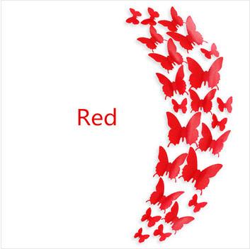 """Наклейка на стену, украшения наклейки """"12 шт. 3D бабочки наклейки"""" Наклейка на стену, украшения наклейки """"12 ш - """"Хочу ще!""""  інтернет-магазин :) в Киеве"""