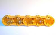 Установочные коробки под гипсокартон модульные пятерние (мультибоксы) для розеток и выключателей.