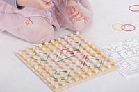 "Математический планшет игрушка ""Фантазируем с резиночками"" 10*10, фото 1"