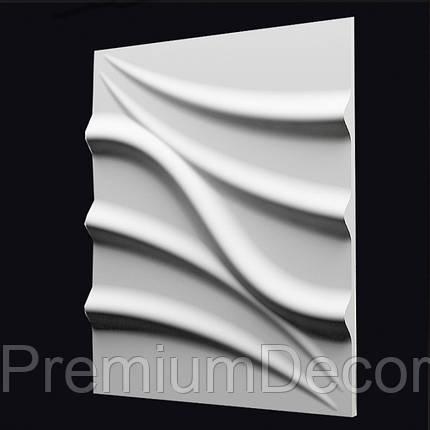 Гипсовые 3Д/3D панели ЛОТОС, фото 2