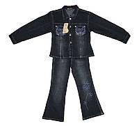 Костюм детский джинсовый двойка для девочки. Роза, фото 1