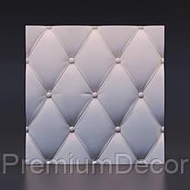 Гипсовые 3Д/3D панели КОЖА, фото 3