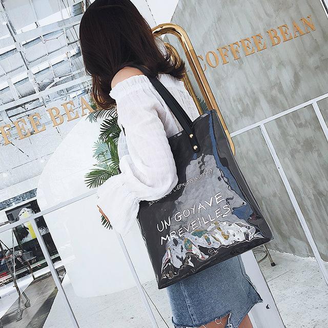 Силіконова жіноча сумка чорна