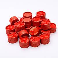 """[5х5х3.5см] Красная круглая подарочная коробочка-футляр """"Шайбочка"""" для украшения"""