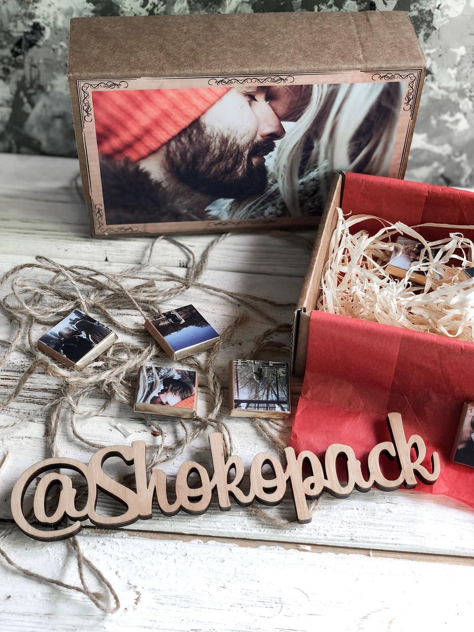 Шоколадный набор с фото Shokopack Крафт 50 шк Черный