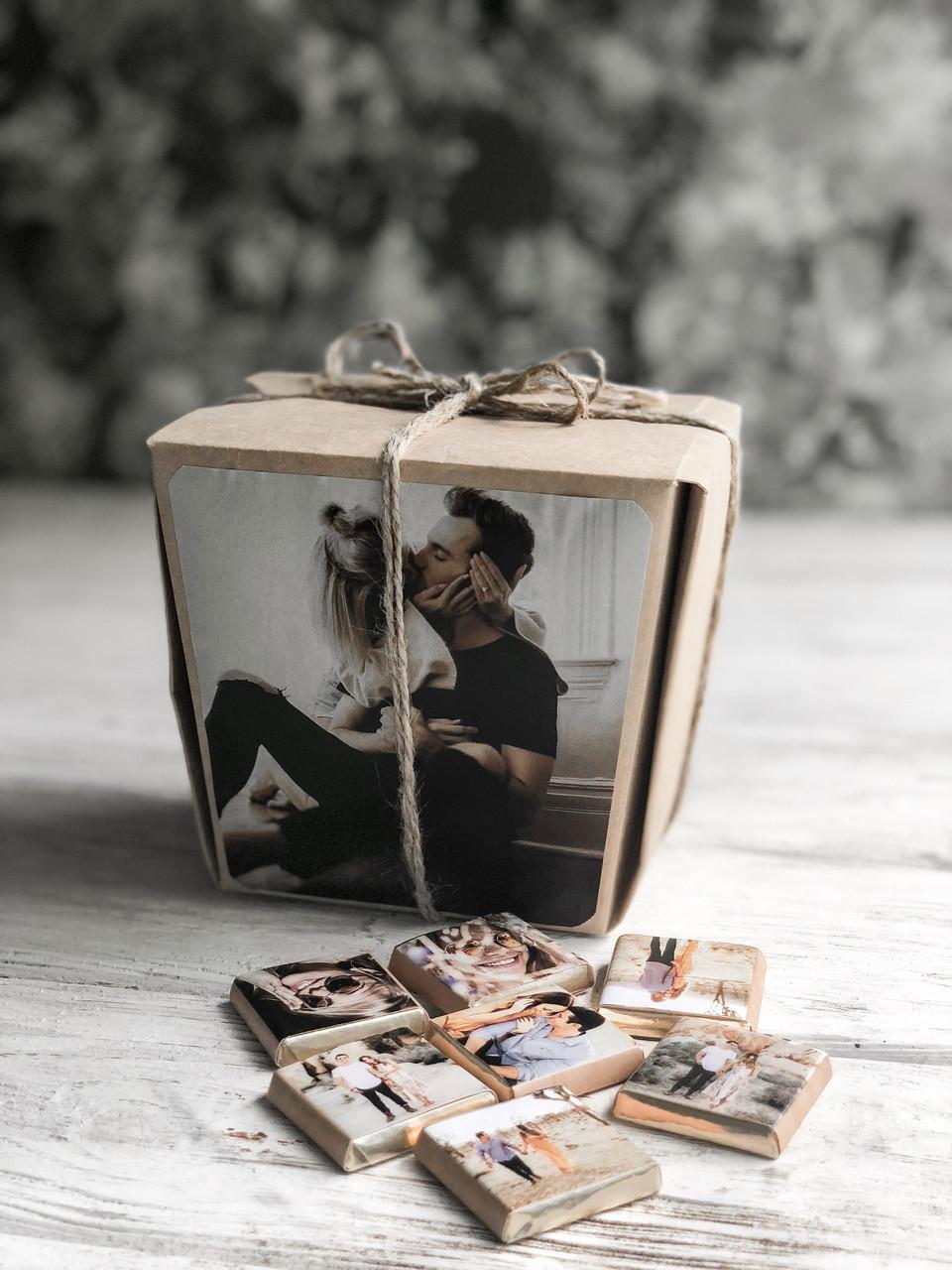 Молочный шоколадный набор с фото «Хеппи моментс 20 шк»
