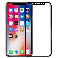 Защитное стекло Glass на iPhone X 5D Черное (141492)