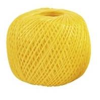 Шпагат полипропиленовый  желтый 400 м  1200 текс  Сибртех 93982