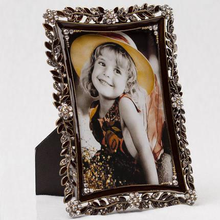 """Фоторамка """"Алмазные цветы"""" (13*18 см, ф - 10*15 см), фото 2"""