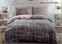 Сатиновое постельное белье евро ELWAY 5053