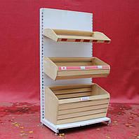"""Хлебный стеллаж """"Ристел"""", 190х95 см. (54,1+1+1 лотки), белый, Б/у, фото 1"""