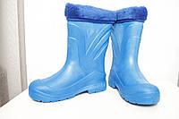 Женские сапоги зимние синие ( Код : EVA-08 обшив), фото 1