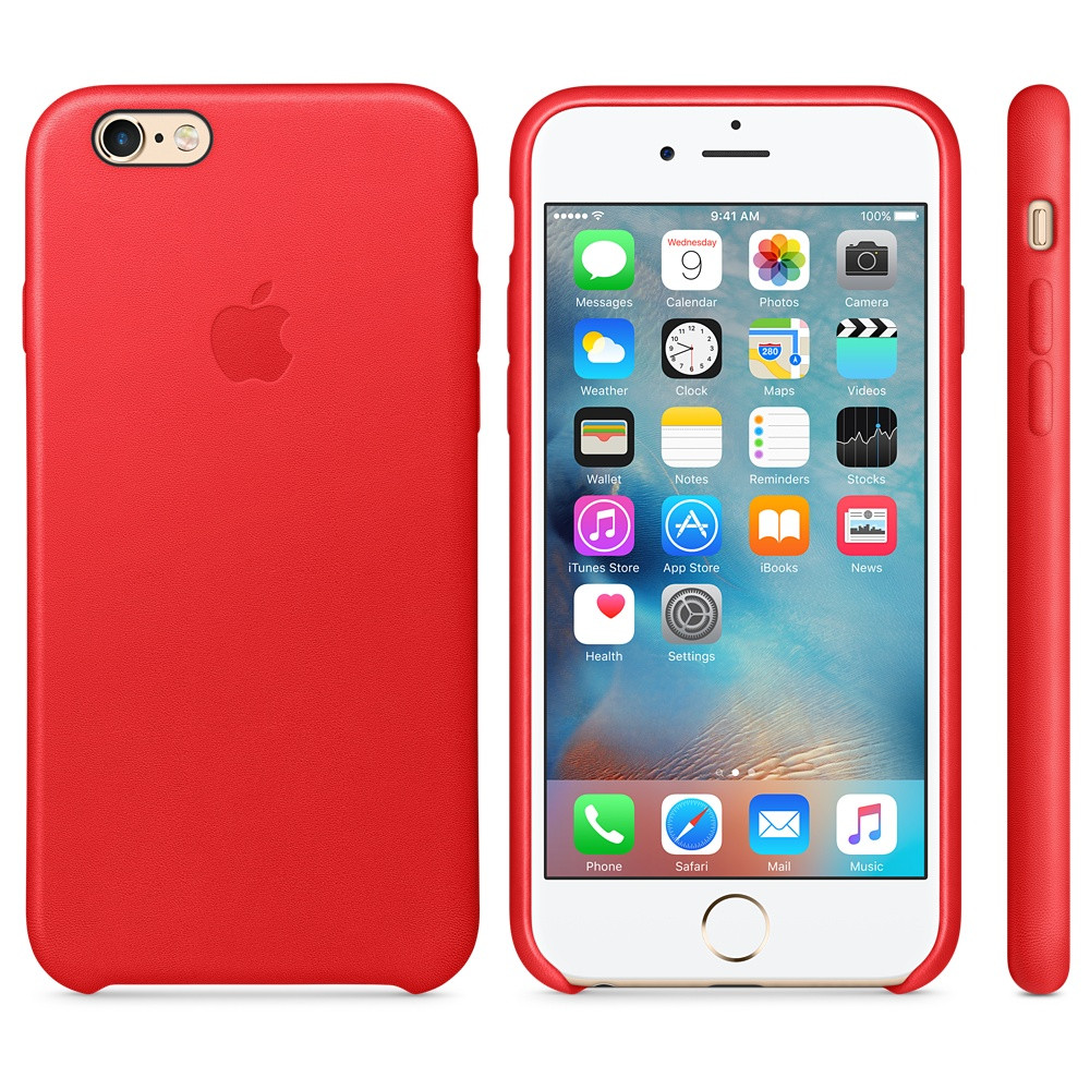 Apple Silicon Case for iPhone 6/6S Red