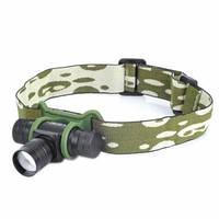 Налобный фокусируемый фонарь  (Cree Q3, 160 люмен, 3 режима, Zoom, 1x14500/1xAA), в сумке