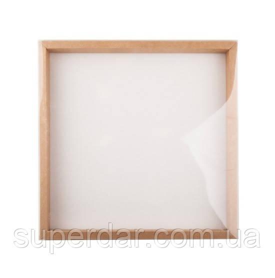 Коробка для пряников с прозрачной крышкой 300×300×30 мм.