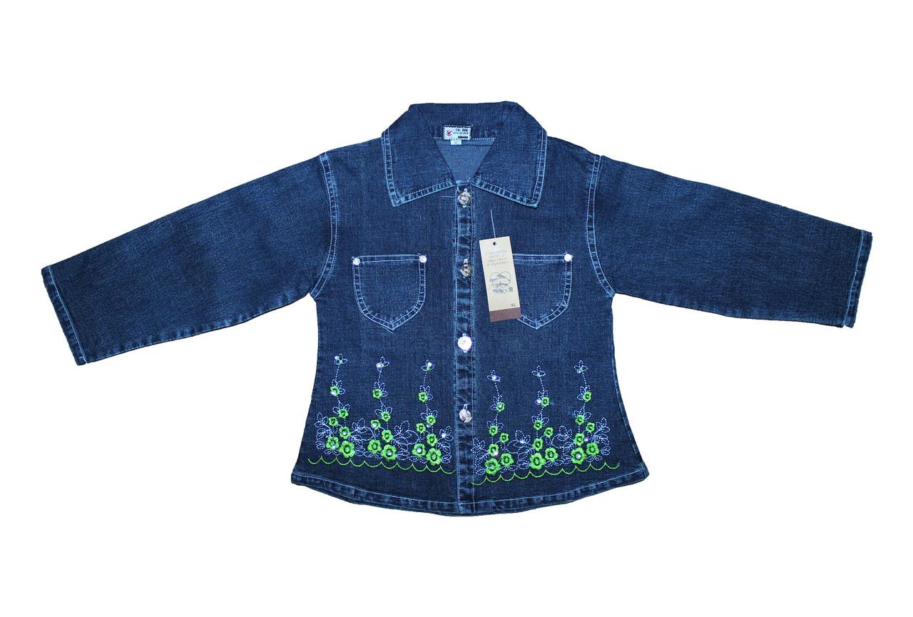 Рубашка детская джинсовая для девочки.