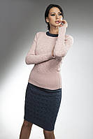 Вязаный комплект джемпер + юбка.