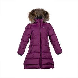 Зимнее пальто-пуховик р. 116-128, 146 для девочки 6-8, 11 лет PARISH ТМ HUPPA 12470055-80034