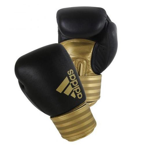 """Боксерские перчатки adidas """"Hybrid 200"""". Цвет черно-золотой"""