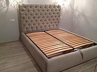 Двуспальная Кровать Nice 160*200 с подъемным механизмом и мягким высоким изголовьем честер с утяжками в Одессе