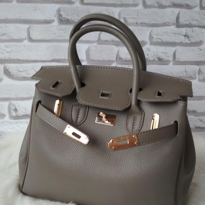 eb6cccaebb7d Большая качественная женская сумка в стиле Hermes серая: продажа ...