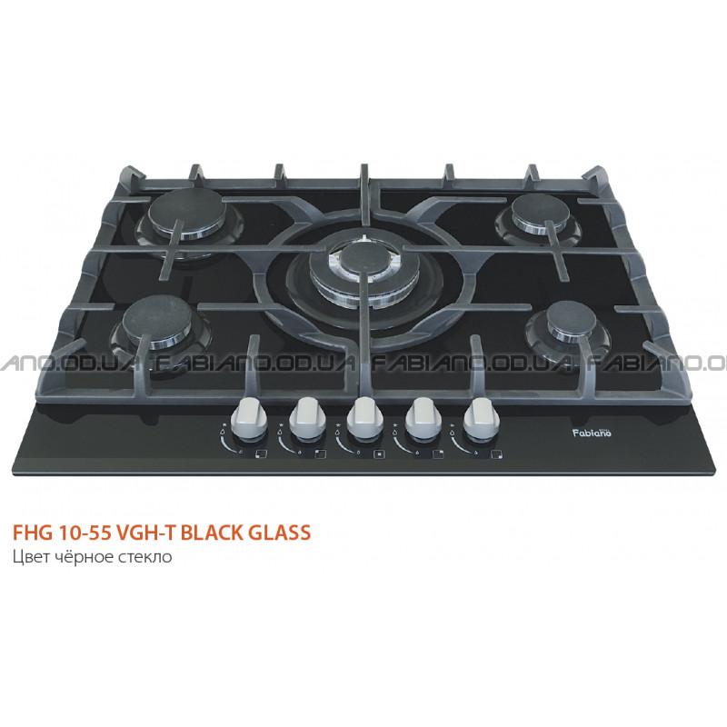 Газовая поверхность Fabiano FHG 10-55 VGH-T Black Glass