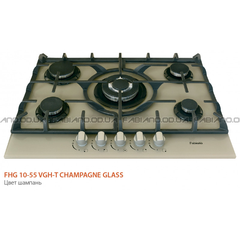 Газовая поверхность Fabiano FHG 10-55 VGH-T Champagne Glass