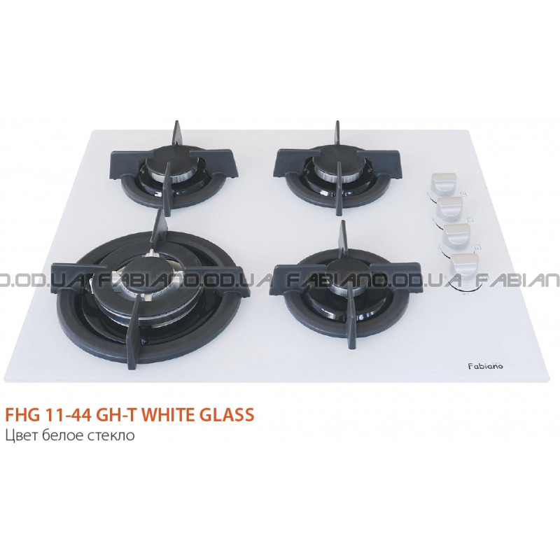 Газовая поверхность Fabiano FHG 11-44 GH-T White Glass
