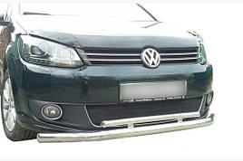 Передняя защита на Volkswagen Caddy 2015 + (Передний ус)