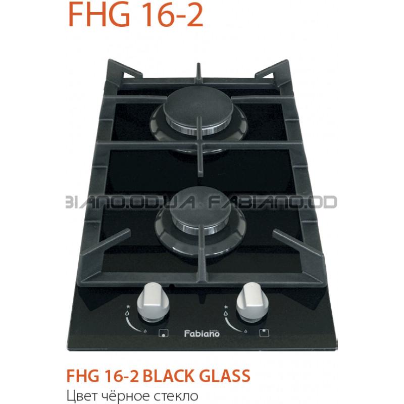 Газовая поверхность Fabiano FHG 16-2 VGH Black Glass