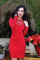 Платье 0665 / красный
