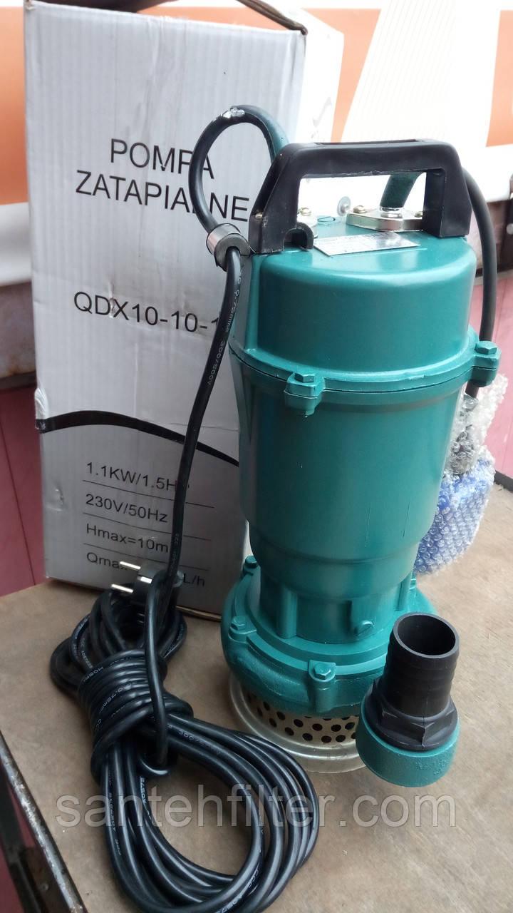 Дренажный насос большой мощности Forwater QDX 10-10-1,1