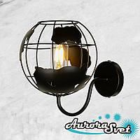 Бра настенная AuroraSvet loft 8800 чёрная. LED светильник бра. Светодиодный светильник бра.