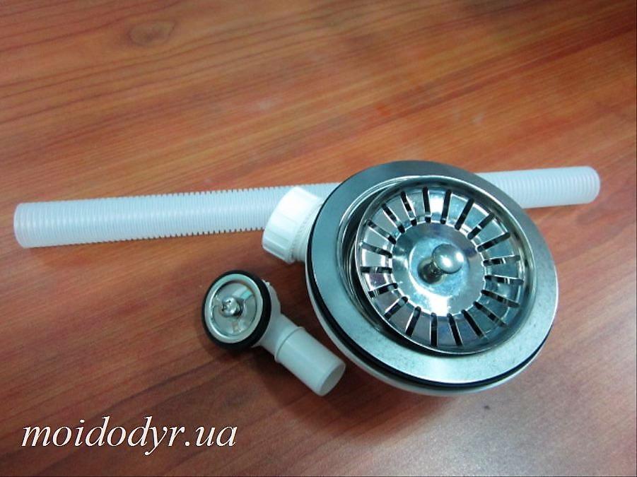 Сифон  с переливом для кухонной мойки (евро вентиль) Оптом