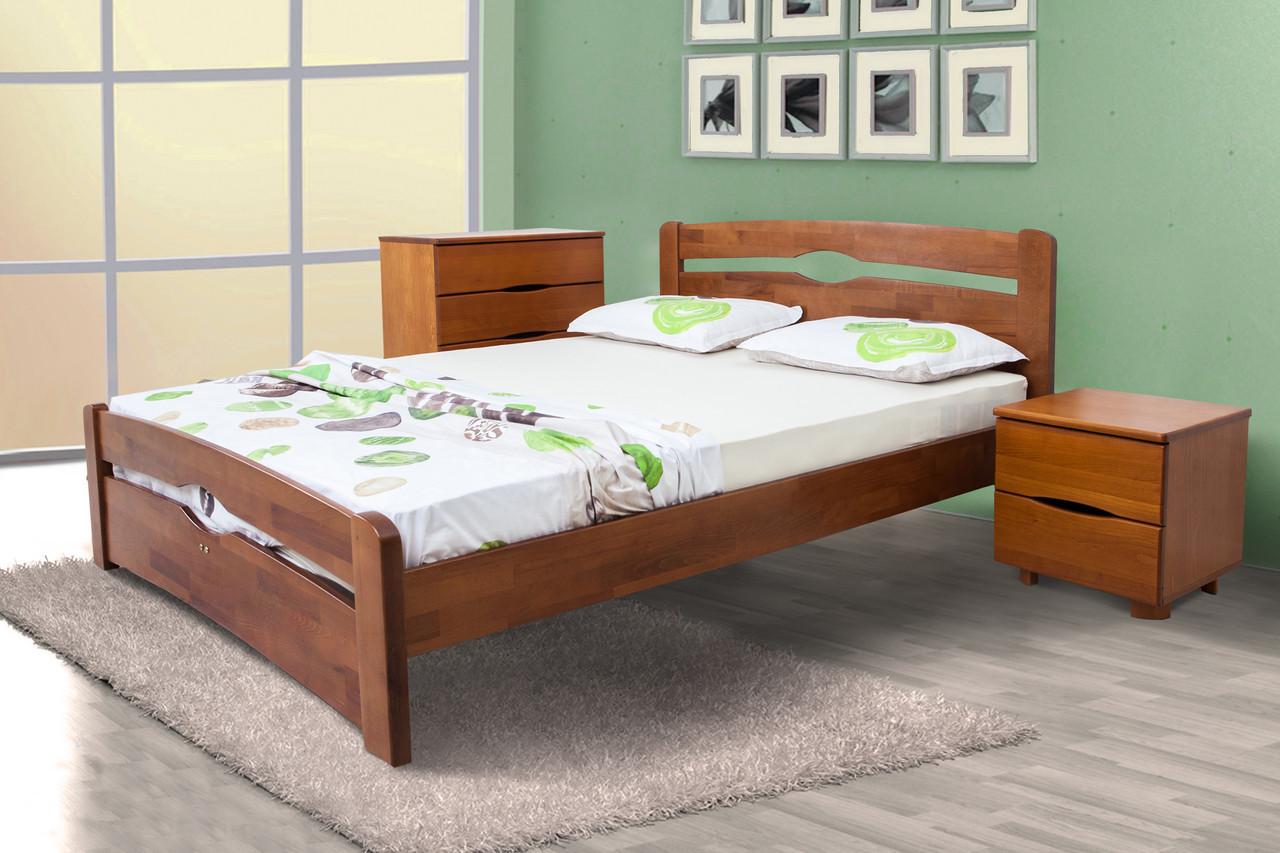 Кровать КАРОЛИНА с изножьем орех 120х200