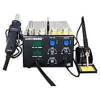 Паяльная станция LUKEY 852D+ компрессорная, фен, паяльник