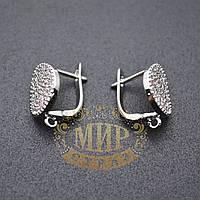 Английская застежка-основа для сережек с камнями, цвет серебро 1 пара