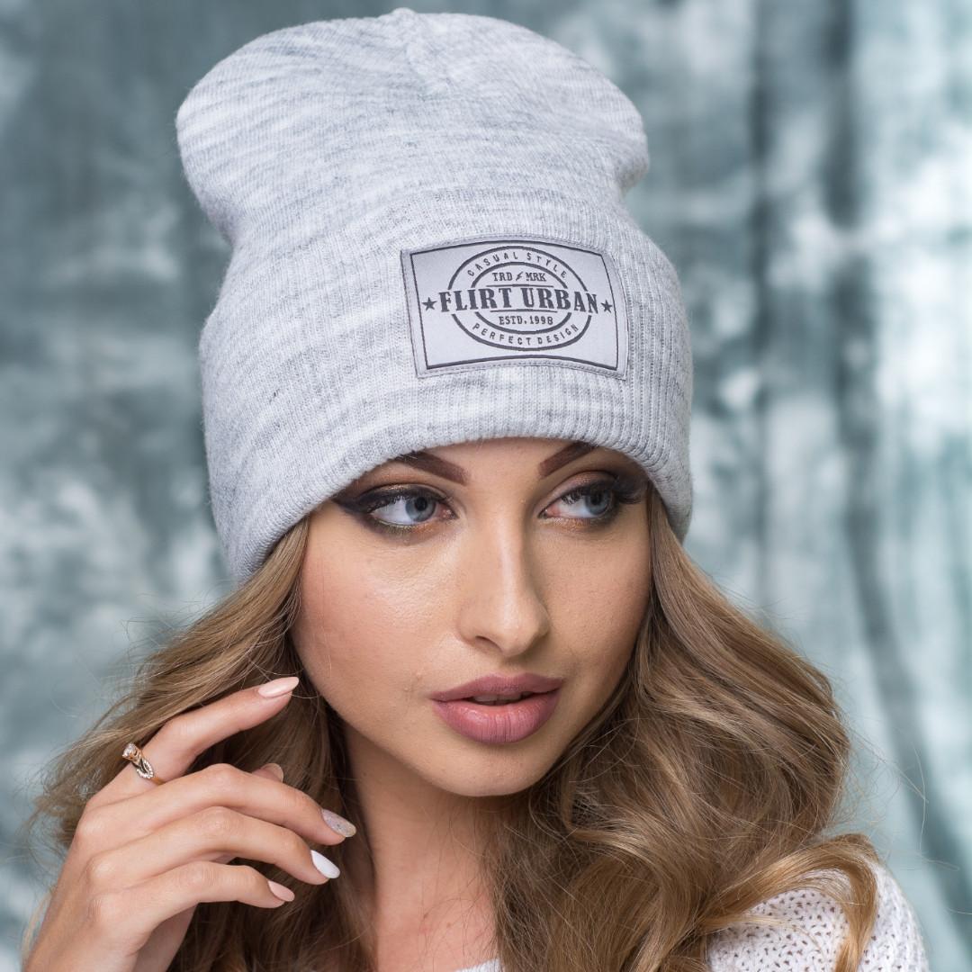 Модная шапка Канзас серая