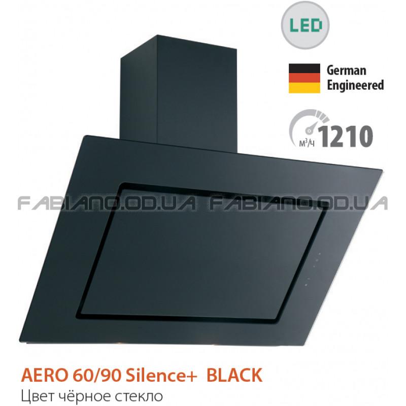 Бесшумная наклонная вытяжка Fabiano Aero 90 Black Silence+