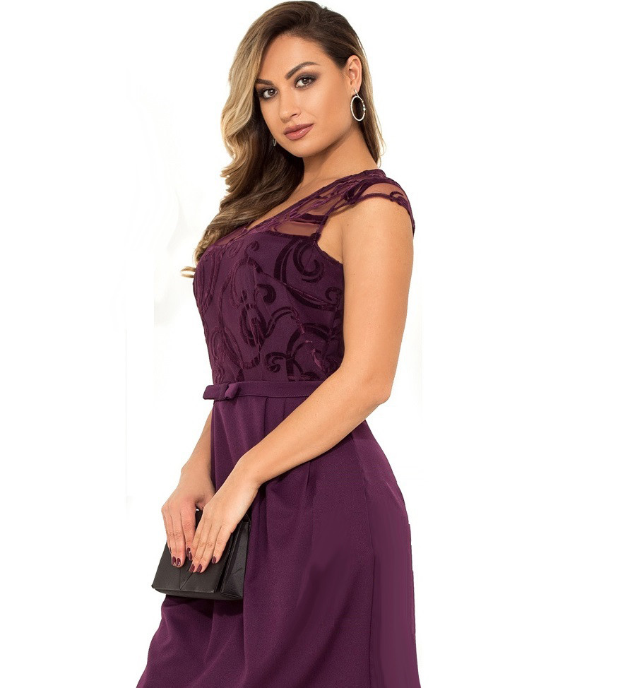 Красивое женское платье фиолетового цвета размеры от XL ПБ-113