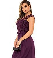 Красивое женское платье фиолетового цвета размеры от XL ПБ-113, фото 1
