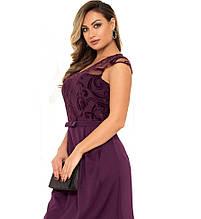 Красиве жіноче плаття фіолетового кольору розміри від XL ПБ-113