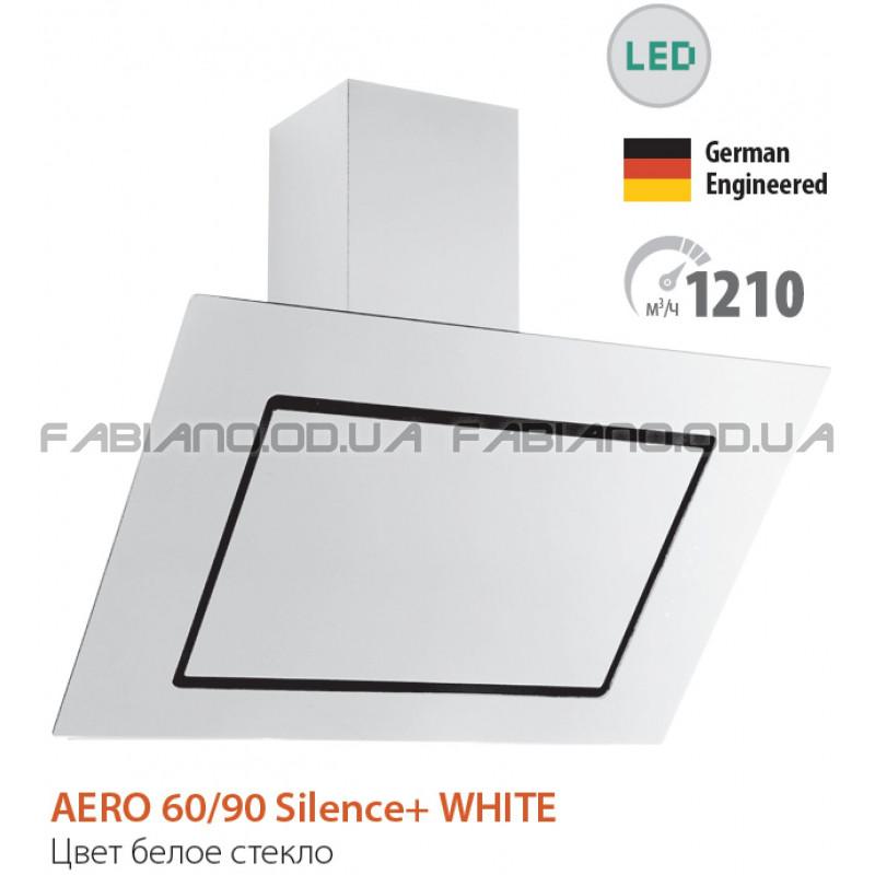 Бесшумная наклонная вытяжка Fabiano Aero 60 White Silence+