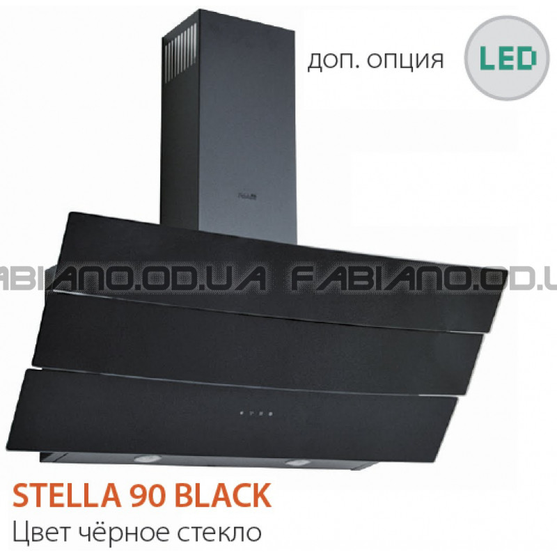 Наклонная вытяжка Fabiano Stella 90 Black